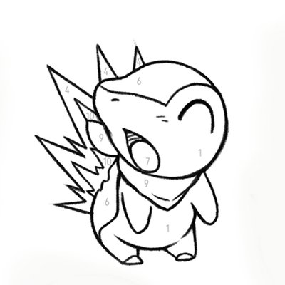 Pokémon Color-by-Number Printable Coloring Page - Play ...