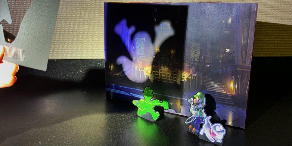 Image of printable featuring Luigi, Gooigi, and Polterpup