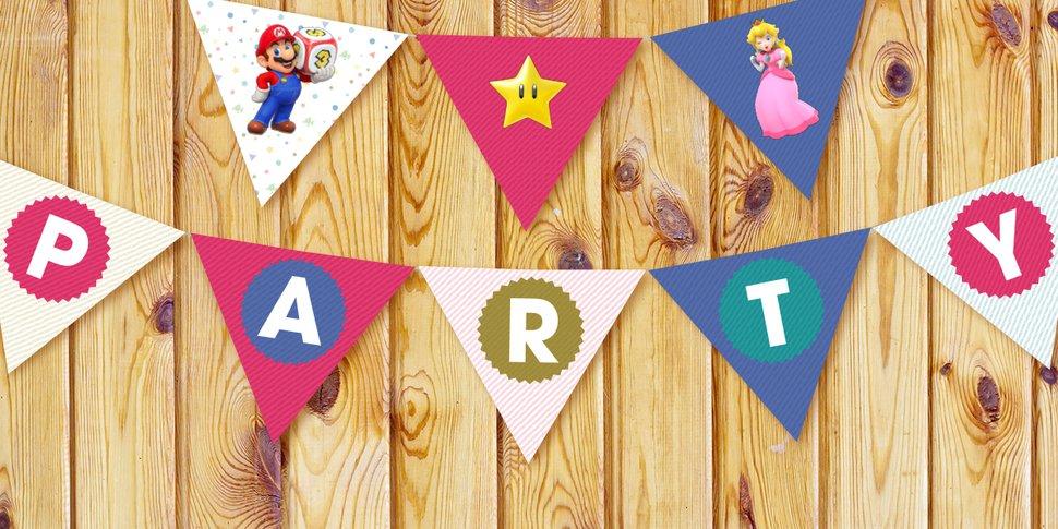 Super Mario Party Printable Pennant Party Banner Play Nintendo